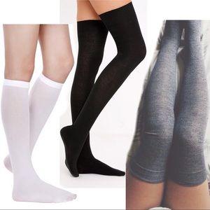 147304c20d8 Urban Outfitters. 🆕3 Over Knee Socks Knee High Black ...